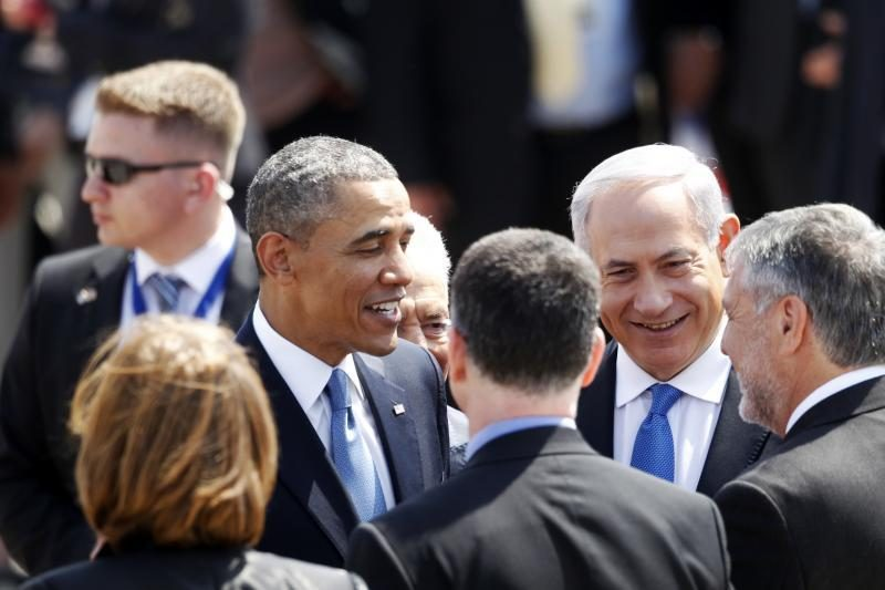 B. Obama pirmą kartą atvyko į Izraelį kaip JAV prezidentas