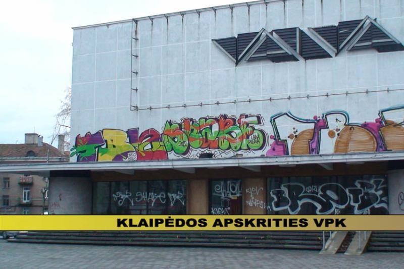 Klaipėdos pareigūnai sulaikė grafitininkų gaują(papildyta 17:05 val.)