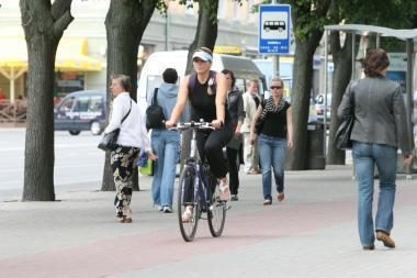 Sprendimo dėl centre esančių dviračių takų dar nerado