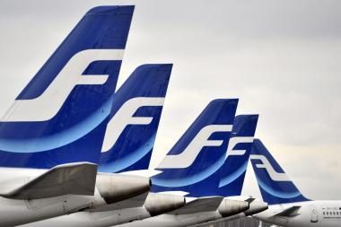 """Dėl """"Finnair"""" palydovų streiko, atšaukta dalis skrydžių Helsinkis – Vilnius – Helsinkis"""
