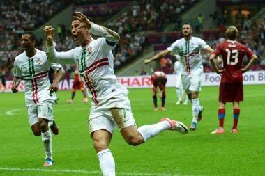 Pirmieji į pusfinalį pateko Portugalijos futbolininkai