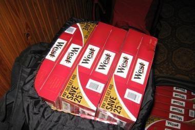 Sulaikyta kontrabandinių rūkalų daugiau kaip už 26 tūkst. litų