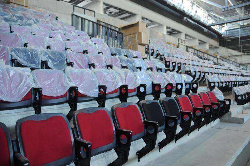 Klaipėdos arenoje baigiamos montuoti kėdės