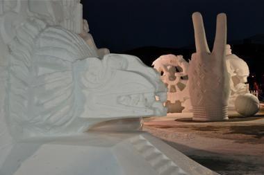Kauniečių sniego skulptūra JAV pelnė auksą