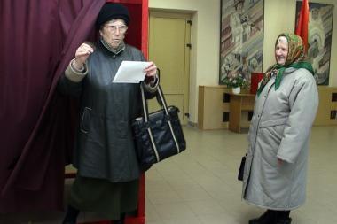 Baltarusiai renka parlamentą