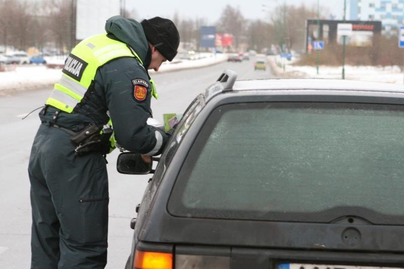 Girtas klaipėdietis – prie vogto automobilio vairo