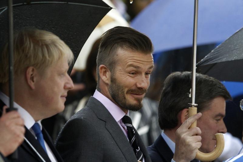 D.Beckhamas dalyvavo olimpinio deglo perdavimo ceremonijoje