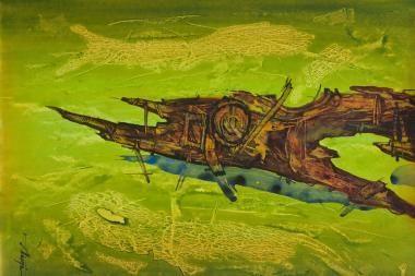 Ryšių muziejuje - E.Nalevaikos akvarelės