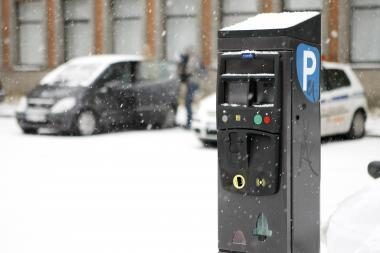 Mokėjimo aparatus prispaudė šaltis