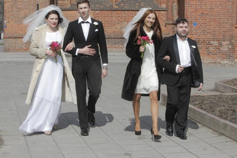 Ant Užupio tilto buvo palaiminta bohemiečių santuoka