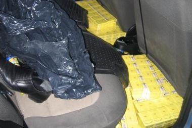 Lenko mašinoje - 6 tūkst. pakelių cigarečių