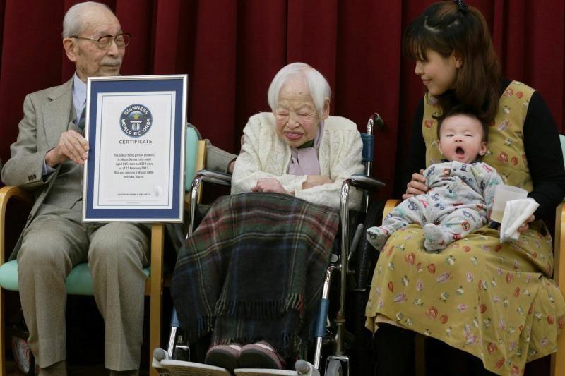 Seniausia pasaulyje moterimi pripažinta 114 metų japonė