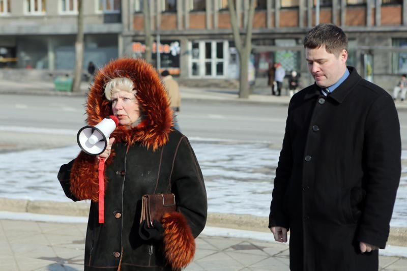 Rusakalbiai klaipėdiečiai mitingavo dėl vertybių