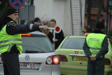 Policijos reidas: sulaikyti trys neblaivūs vairuotojai