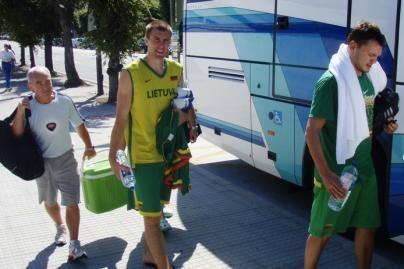 Krepšininkai atvyko į Ispaniją