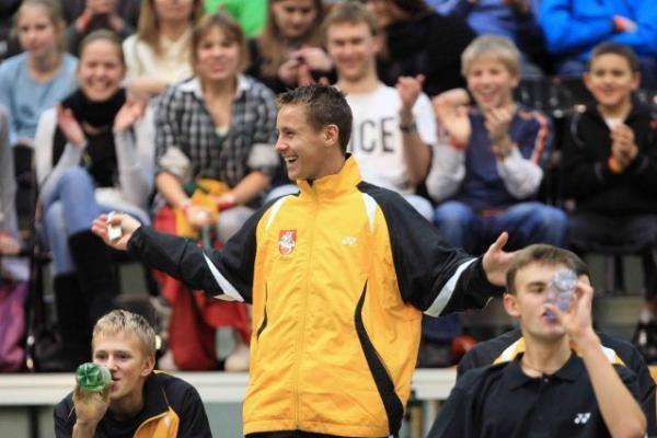 Tenisininkas L.Grigelis išplėšė pergalę Lietuvai (papildyta)