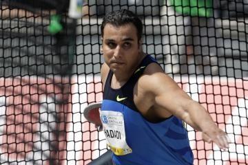 V.Alekna nusileido Irano sportininkui