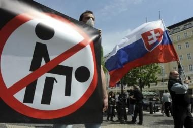 Skustagalviai sužlugdė pirmąsias Slovakijos homoseksualų eitynes