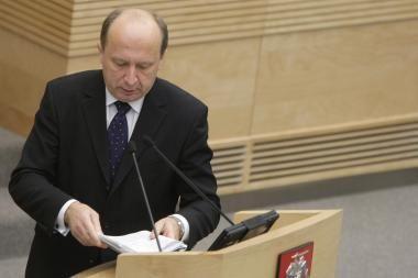 A.Kubilius Seimui linki politinių pergalių