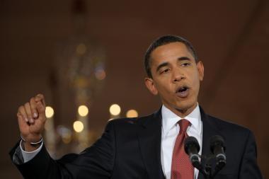 B.Obama prakalbo apie teroristų medžioklę