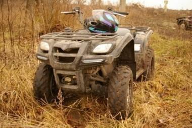 Panevėžio rajone buvo pavogtas keturratis motociklas