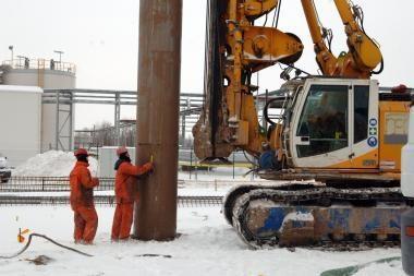 Žiema nepristabdė elektrinės statybos darbų