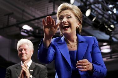 H.Clinton koją gali pakišti vyras