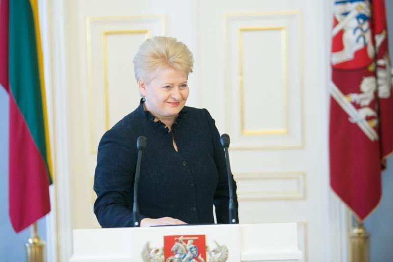 D. Grybauskaitei Vokietijoje bus įteiktas prestižinis apdovanojimas