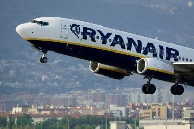 """Ūgtelėjo """"Ryanair"""" keleivių srautas"""