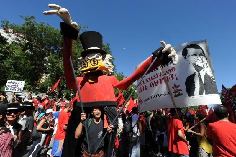Madridą užplūdo taupymo politika nepatenkinti piliečiai