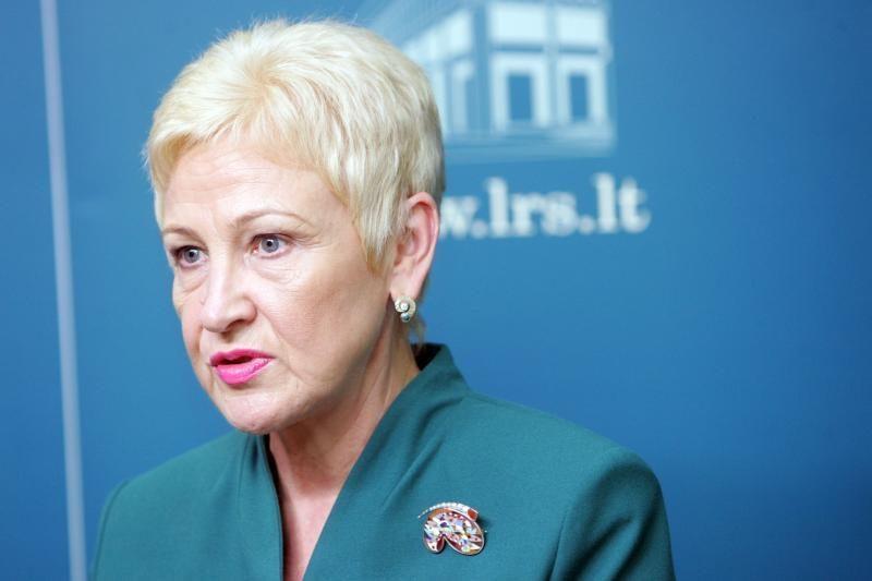 Seimo pirmininkė kalba apie mažumos Vyriausybę