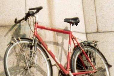 Partrenkė dviračiu važiavusį pareigūną