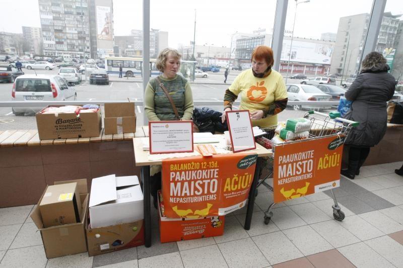 """Rekordas: """"Maisto bankui"""" paaukota maisto produktų už 1 mln. litų"""