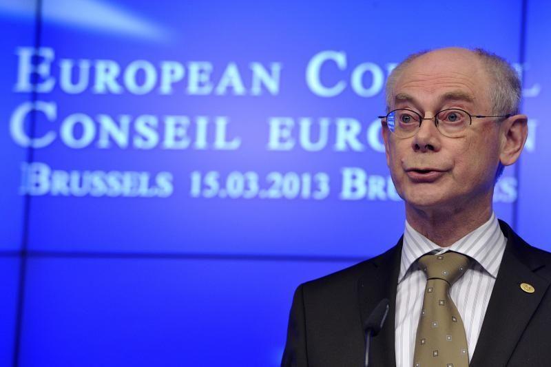 ES prezidentas Van Rompuy 2014-ųjų pabaigoje pasitrauks iš politikos