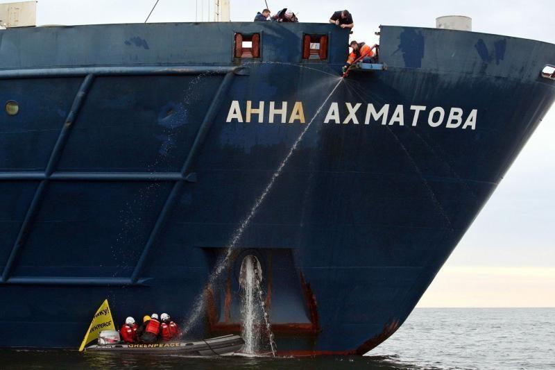 """Rusija sulaikė dešimt """"Greenpeace"""" aktyvistų"""