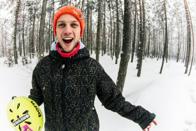 Užkietėjęs snieglentininkas M. Ponomariovas: mes turime kuo didžiuotis