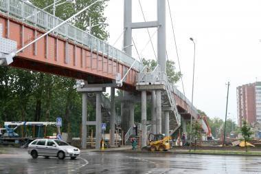 Planuojama atidaryti pėsčiųjų tiltą