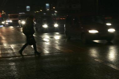 Pirmadienį Kauno pėsčiųjų perėjose partrenkti du žmonės