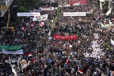 Sirijoje verda protestai prieš JAV ataką
