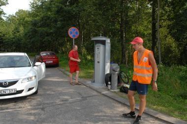 Siūloma branginti automobilių stovėjimą pajūryje