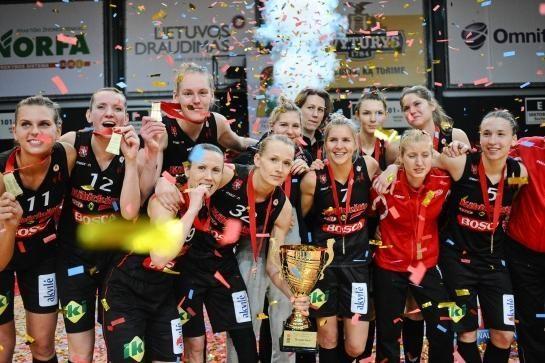 """LKF taurės savininkės - sostinės """"Kibirkšties"""" merginos!"""