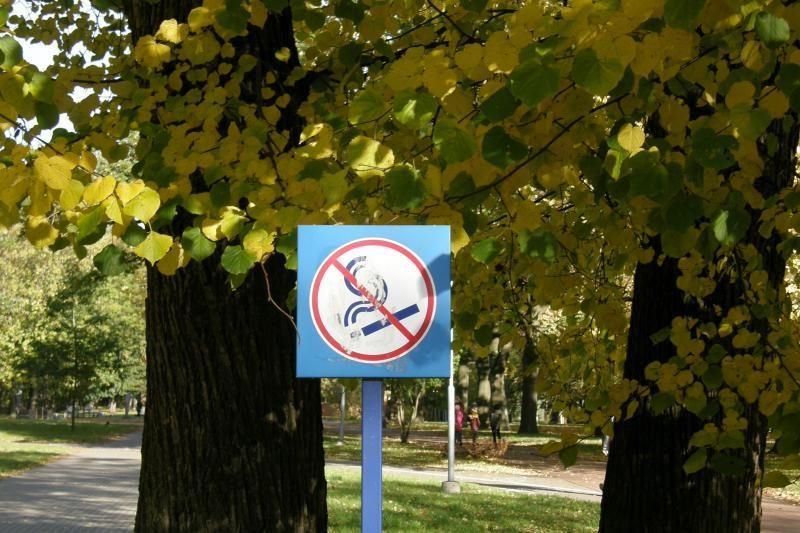 Skulptūrų parkas pagaliau išsivadavo nuo rūkorių?