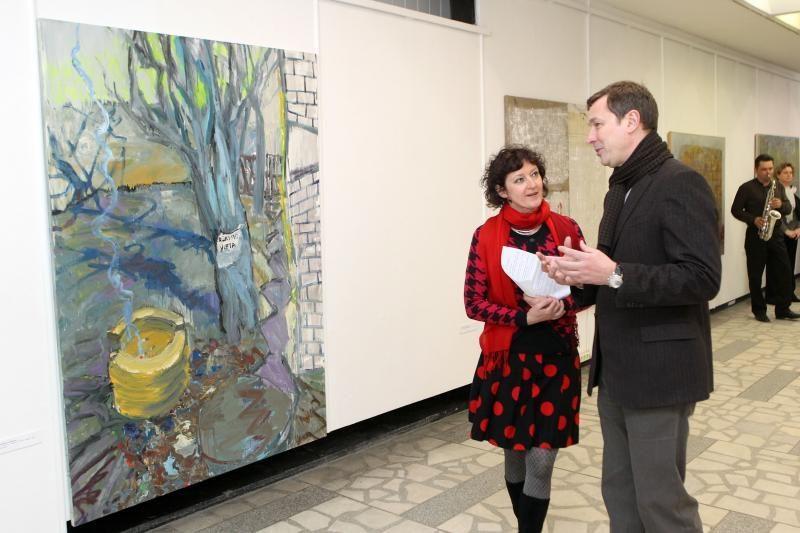 Vilniaus ir Kauno dvimiesčio idėja – tapytojų darbuose