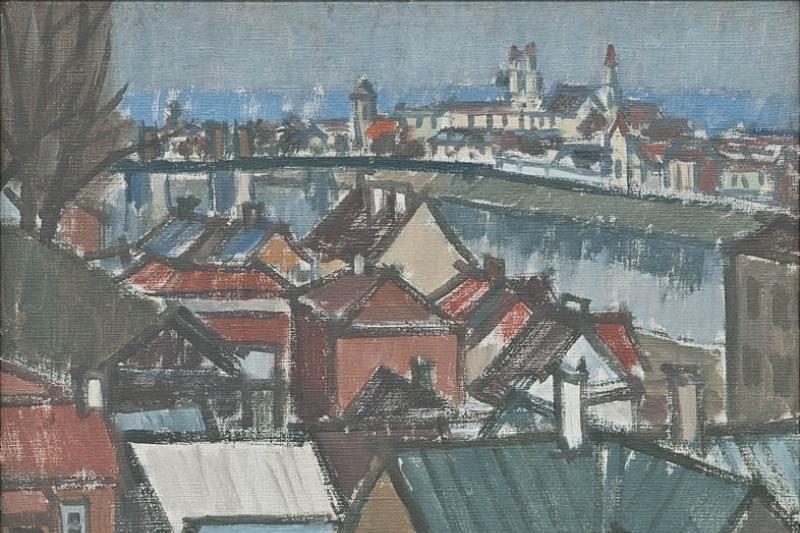 Mėlyna Vytauto Povilaičio tapybos albumo jėga