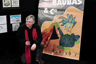 Lietuvių animacijos klasiko I.Bereznicko kūrybos vakare dalyvavo ir pats Baubas