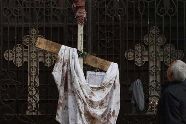 Tikintieji sugrįžo į Egipto bažnyčią, kurioje buvo įvykdytas išpuolis