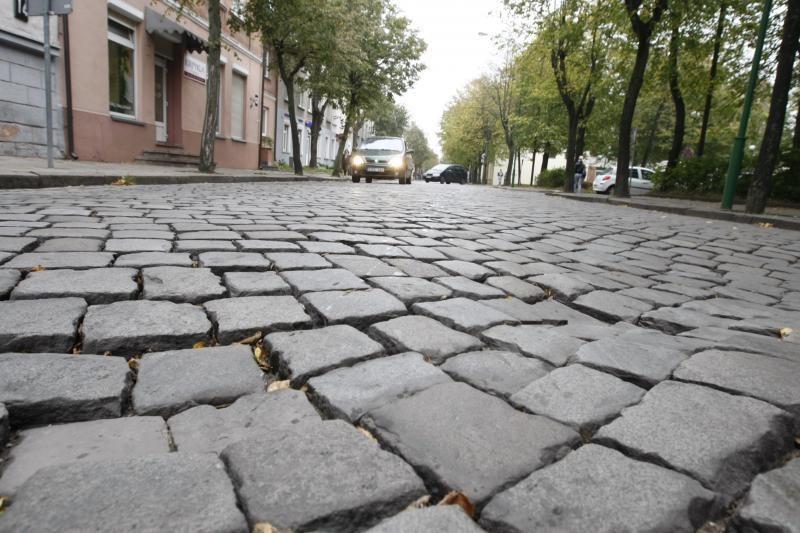 Uostamiesčio J.Janonio gatvėje perklos akmenis