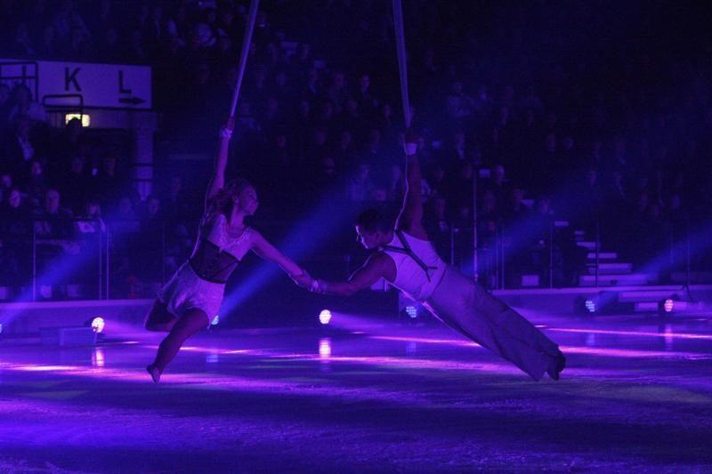 Ryškiaspalvis spektaklis ant ledo užbūrė klaipėdiečius