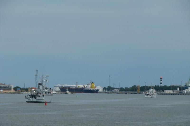 Lietuvos kariniai laivai išplaukė į pratybas Latvijoje