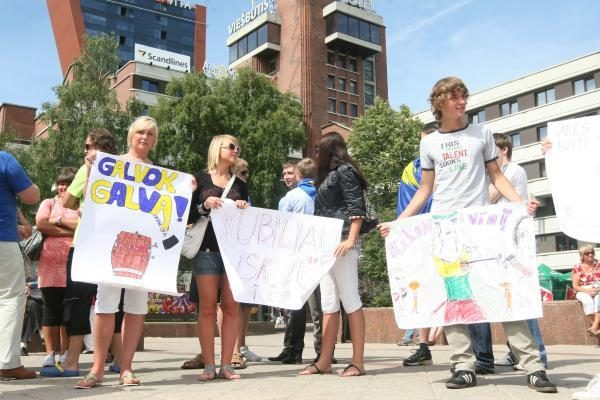 Klaipėdiečiai reikalavo ministrų atsistatydinimo